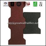 Antislip Outdoor Dog Bone Shape Rubber Floor Brick Tile