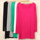 Bamboo Spandex Fiber Sexy Ladies Long Sleeves T Shirt