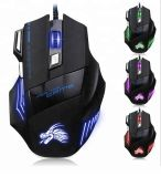 Wired USB 7D LED Light Gaming Optical Mouse 2400dpi GM6816A