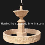 Beige Marble Urn Water Fountain