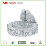 Polyresin Stone Effect Bird Bath Statue for Pretty Garden Decoration. Decorate Your Own Garden