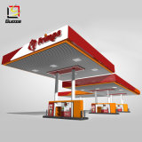 LED Illuminated Pylon Signs Light Steel Steel Structure for Petrol Station Canopy