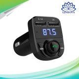 Wireless Bluetooth Car Kit FM Transmitter Handfree Car MP3 Support TF Card / U Disk Dual USB Car Charger