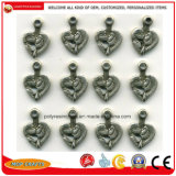 Pewter Zinc Alloy Heart Pendants with Lovers of Metal Holiday Souvenirs Crafts