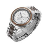Super Quality Men's Wholesale Price Chronograph Steel Wood Watch