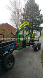ATV/Tractor Timber/Forest/Log Trailer with Crane Lwc-300