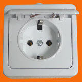 German Style Surface Mounting Socket Outlet with Cover IP44 (S7510)