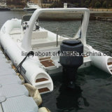 Liya 6.6m Tourist Boat PVC Rigid Inflatable Boat with Ce