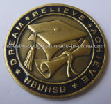 Wholesale Custom Metal Material Antique Bronze Plating Double Sided 3D Coin for Gift