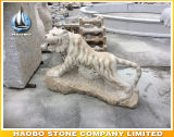 Stone Hand Carved Tiger Statue Life Size