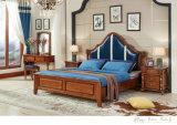 Royal Style Bedroom Furniture, Leather Bedroom Set, Dresser, Wardrobe, Night Stand (105)