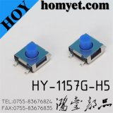 China Factory SMD Tact Switch with 6.2*6.2*5mm Blue Button (HY-1157G-H5)