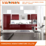 Red High Gloss Lacquer Kitchen Cabinetry Kitchen Furniture