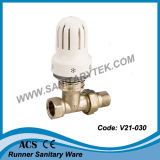 Straight Radiator Valve with Thermostatic Head (V21-030)