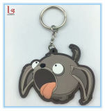 Newest Cartoon Dog 3D Soft Key Ring Custom PVC Keychain