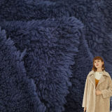 Soft 100% Polyester Wool Faux Fur Double Sided Sherpa Fleece Knitting Fabric for Lining Fabrics and Overcoat