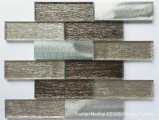 Aluminum Alloy Surface Grain Brown Bark of Champagne Glass Mosaic Tiles for Wall Tile Gys-1049