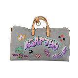Unisex Gray Fashionable Single-Shoulder Canvas Travel Bag