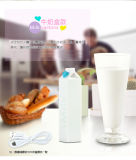 2600mAh Cartoon Milk Box Portable Power Bank