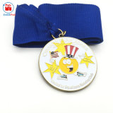 Award Trophies Orange Metal Running Club Medal Service