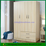 Bedroom Furniture Knock-Down MFC Wooden Wardrobe Cabinet