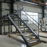 Construction Steel Staircase with balustrade