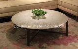 European Modern Style Wooden Marble Top Coffee Table Round Tea Table (T-85A+B+C)