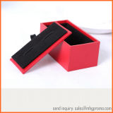 High Quality Black Velvet Cufflink Box for Jewelry and Gifts