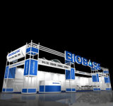 Booth Aluminum Truss Slat Modular Exhibition Display with Lighting Stand