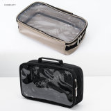 Portable Mens Toiletry Bag with Handle and Transparent PVC Organzier Travel Bag