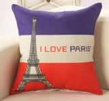 Competitive Quality Price Love Paris Printed Sofa Cover