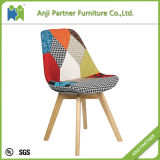 Colorful Cover Traditional Style Leisure Wooden Base Chair (Kammuri)