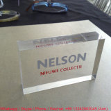 Square Shape Customize Clear Office Gift Crystal Souvenir