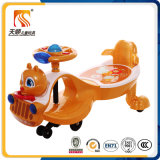 Ride on Plastic Toy Children Swing Car with Backrest