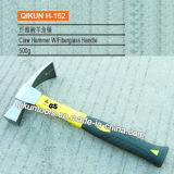 H-162 Construction Hardware Hand Tools Mirror Polished Claw Hammer with Fiberglass Handle