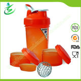450ml BPA Free Shaker Bottle with Compartments