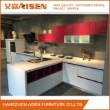 White Mixed Red Home Furniture Kitchen Cabinets
