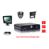4 Channels SD Mobile DVR, 3G GPS Vehicle Blackbox DVR