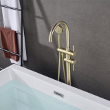 Good Quality Stainless Steel Gold Distributor Sanitary Ware Brass Black Freestanding Bathtub Faucet