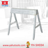 Folding Sawhorse, Steel Trestle, Wood Standing