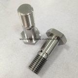 CNC Turned Machining Steel /Aluminum Shaft Axle with Hexagonal Screw