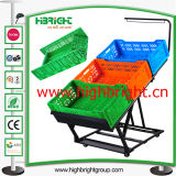 Collapsible and Foldable Metal Vegetable and Fruit Display Rack with Crates and Price Tag