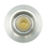 Lathe Aluminum GU10 MR16 Round Fixed Recessed LED Down Light (LT2108)