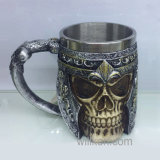 Halloween Stainless Steel and Resin Skull Cup Mug for Coffee Beer Wine