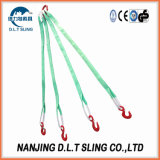 Multi-Leg Polyester Webbing Round Sling Rigging Assembly