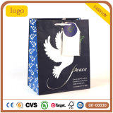 Dove Blue Art Coated Fashion Gift Paper Bag