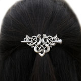 Factory Women Antique Silver Metal Stick Slide Hair Clip Celtics Knots Hairpins Retro Hair Jewelry Accessories