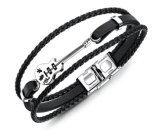 New Fashion Guitar Bracelet Braided Multilayer PU Leather Bracelets Bangles Men Casual Vintage Punk Jewelry