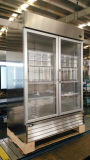 Stainless Steel Swing Door Beverage Cooler with Powerful Ventilated Cooling System