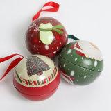 Christmas Tin Balls Candy Tins Ball Shaped
